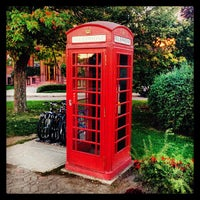 Photo taken at The red telephone booth by Michel S. on 9/30/2013