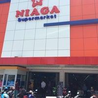 Photo taken at Niaga Supermarket by Sylvia on 3/3/2014