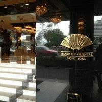 Photo taken at Mandarin Oriental, Hong Kong 香港文華東方酒店 by Nifika S. on 4/8/2013