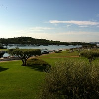 Photo taken at Hotel Romazzino, Costa Smeralda by Souren B. on 8/14/2013