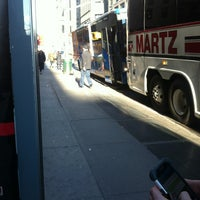 Photo taken at Mega Bus - 7th Ave & 27th St by Suree on 1/5/2013