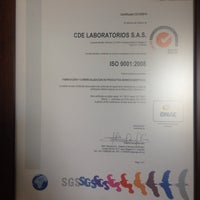 Photo taken at CDE LABORATORIOS S.A.S by Juan D. Rodriguez B. on 3/8/2014
