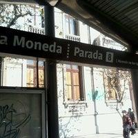 Photo taken at Parada 8 - Metro La Moneda (PA166) by Pao R. on 8/9/2013