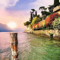 Photo taken at Beach Malcesine by Adolfo R. on 9/15/2016