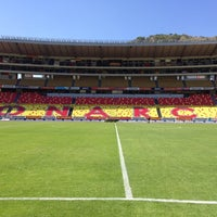 Photo taken at Estadio Morelos VIP by Luis A. on 10/29/2014