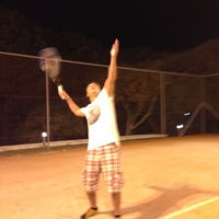 Photo taken at Grecotel tennis courts by Александр Ж. on 8/20/2014