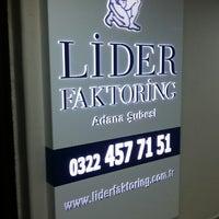 Photo taken at Lider Faktoring  A.Ş -Adana Şubesi by PlnTnr G. on 2/21/2014