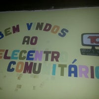 Photo taken at Telecentro Comunitário by Leonardo M. on 11/4/2013