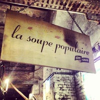 Photo taken at La Soupe Populaire by Annette S. on 9/7/2013
