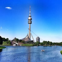 Photo taken at Olympiapark by Annette S. on 5/18/2013