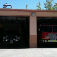 Photo taken at Azusa fire department by Jenny T. on 8/8/2012