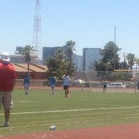 Photo taken at Collis Stadium - Clark High by Heidy C. on 6/8/2013
