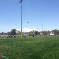 Photo taken at Collis Stadium - Clark High by Heidy C. on 7/13/2013