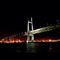 Photo taken at Yokohama Bay Bridge by Yuto N. on 4/24/2014