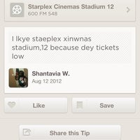 Photo taken at Starplex Cinemas Stadium 12 by Sean B. on 7/25/2013