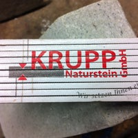 Photo taken at Krupp Naturstein GmbH by Marco T. on 4/11/2013