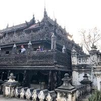 Photo taken at Golden Palace (Shwenandaw Kyaung) Monestary by Hana L. on 2/17/2018
