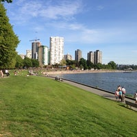 Photo taken at English Bay Beach by James P. on 6/7/2013
