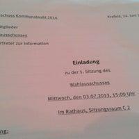 Photo taken at Rathaus Krefeld by Samla Fotoagentur w. on 7/3/2013