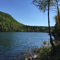 Photo taken at Großer Montiggler See / Lago Grande di Monticolo by Sandro S. on 4/19/2015