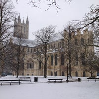 Photo taken at Canterbury Cathedral by Laurence H. on 1/20/2013