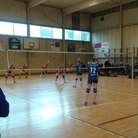 Photo taken at sporthal kruikenburg ternat by Vanessa W. on 2/22/2014