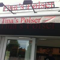 Photo taken at Tina's Pølser by Rasmus B. on 5/24/2013
