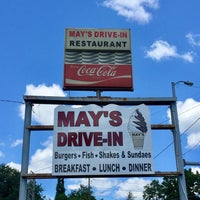 Photo taken at May's Drive-in by Tony C. on 7/9/2017