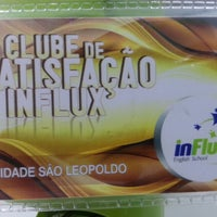 Photo taken at InFlux English School by Marcio R. on 8/20/2014