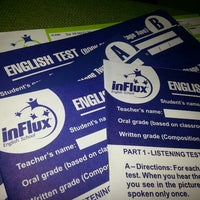 Photo taken at InFlux English School by Marcio R. on 7/15/2014
