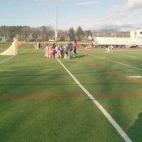Photo taken at Franklin High School Turf Field by Geoffrey Z. on 5/1/2014