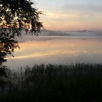 Photo taken at Pulgošņa ezers by Patrīcija D. on 8/4/2013