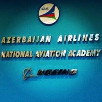 Photo taken at Milli Aviasiya Akademiyası / National Aviation Academy by Eldar G. on 4/19/2013
