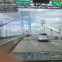 Photo taken at Bronx-Whitestone Bridge by Dillon I H. on 3/22/2013