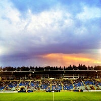 Photo taken at Stade Saputo by Marika L. on 8/7/2013