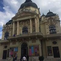 Photo taken at Színház tér by Kata S. on 4/30/2017