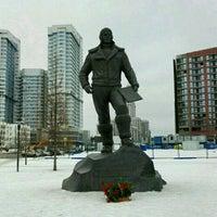 Photo taken at Памятник Водопьянову Михаилу Васильевичу by Екатерина Л. on 2/20/2017