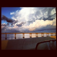 Photo taken at Baron Collier Bridge (41 North Across the Peace River) by Crystal B. on 10/20/2012