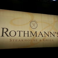 Photo taken at Rothmann's Steakhouse by Hazel J. on 4/20/2013