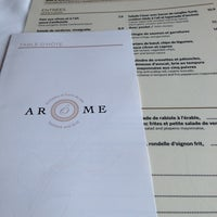 Photo taken at Arôme Seafood And Grill by Jeanne M. on 3/28/2013