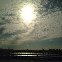 Photo taken at 동호대교 한강로 (Dongho Bridge, Hangang-ro) by Yoonhee R. on 10/13/2014