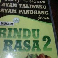 Photo taken at Rindu Rasa by Uchu W. on 9/16/2012