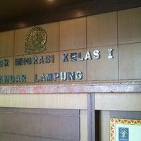 Photo taken at Kantor Imigrasi Kelas I Bandar Lampung by Rizki F. on 9/13/2013