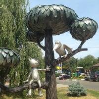 Photo taken at Памятник котенку by Annetku on 7/13/2013