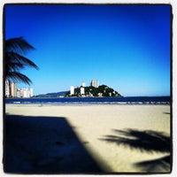 Photo taken at Praia do Gonzaguinha by Pedro Paulo D. on 4/16/2013