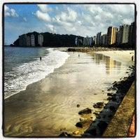 Photo taken at Praia do Gonzaguinha by Pedro Paulo D. on 4/27/2013