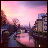 Photo taken at Old Ford Lock (Regent's Canal) by Laura S. on 2/6/2014