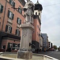 Photo taken at Salinplatz by Manfred L. on 4/21/2014