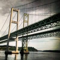 Photo taken at Tacoma Narrows Bridge by TJ H. on 5/11/2013