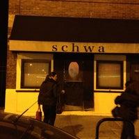 Photo taken at Schwa by Adrienne P. on 11/29/2012